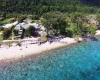 amazing property on 3,000 m2 commercial land and 32 m private beach