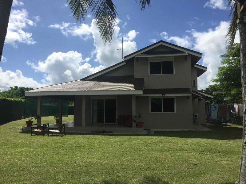 Front elevation facing the lagoon