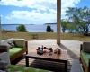 large deck area with views over Havannah Harbour and sunsets