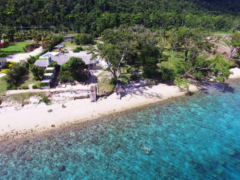 amazing property on 3,096 m2 commercial land and 35 m private beach